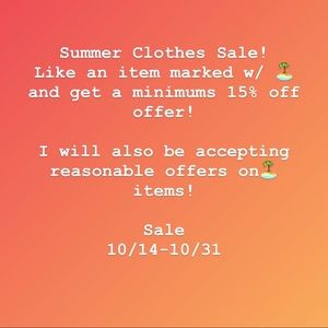Summer Clothes Sale! 🏝